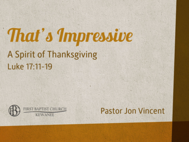 That's Impossible - A Spirit of Thanksgiving