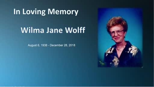 Wilma Krol Wolff Funeral