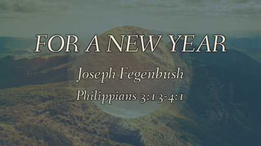 For a New Year