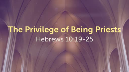 The Privilege of Being Priests
