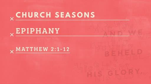 1/6: Epiphany
