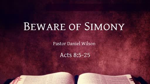 Beware of Simony