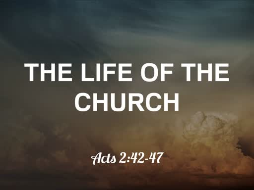 The Life Of The Church Part 1