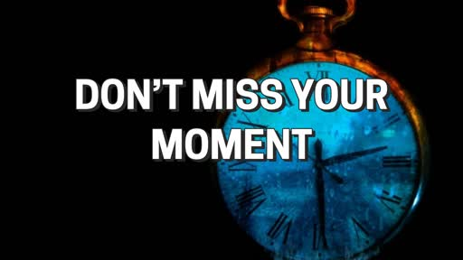 Don't Miss Your Moment