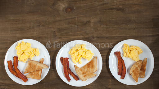 Men's Breakfast Plates