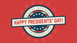 Happy Presidents Day presidents' 16x9 PowerPoint image