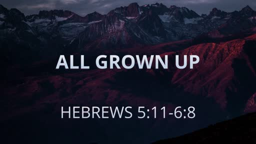 Hebrews 5:11-6:8 (All Grown Up)