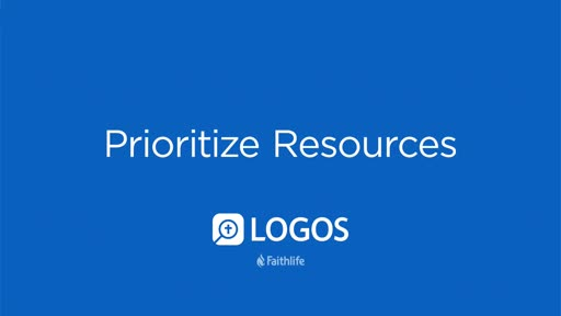 Prioritize Resources