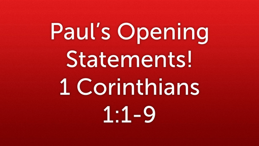 01 Paul's Opening Statements (01-06-19)