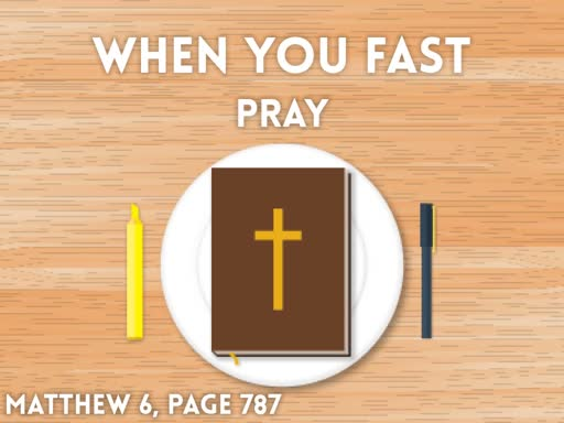 When You Fast, Pray