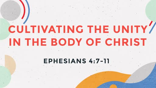 Cultivating the Unity in the Body of Christ