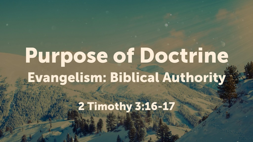 Purpose of doctrine