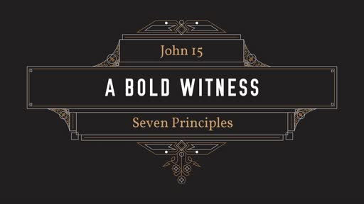 01-20-19 Morning Worship - Seven Principles for Developing a Bold Witness