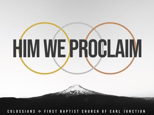 The Prayer for Colossae - Part 1 - Col. 1:9-14