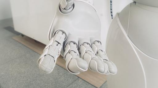 Charming robot offering life insurance plans