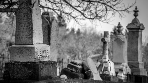 Woman visiting gravesite sees man digging out of nearby grave