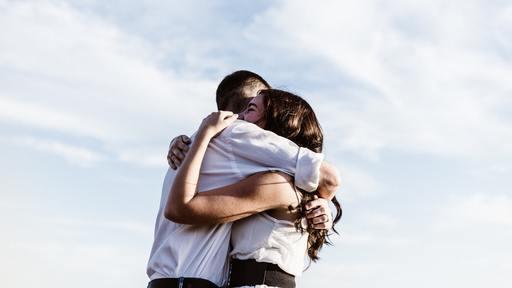 Hugs speak louder than words