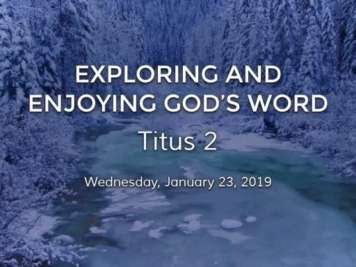 Titus 2 Bible Study