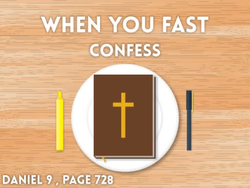 When you Fast - Confess