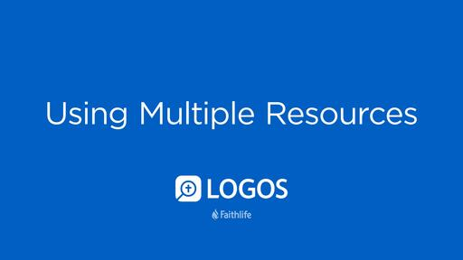 Using Multiple Resources