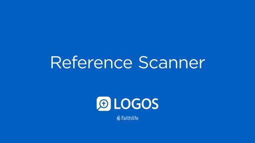 Reference Scanner