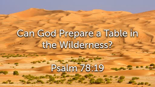 Can God Prepare a Table in the Wiilderness?