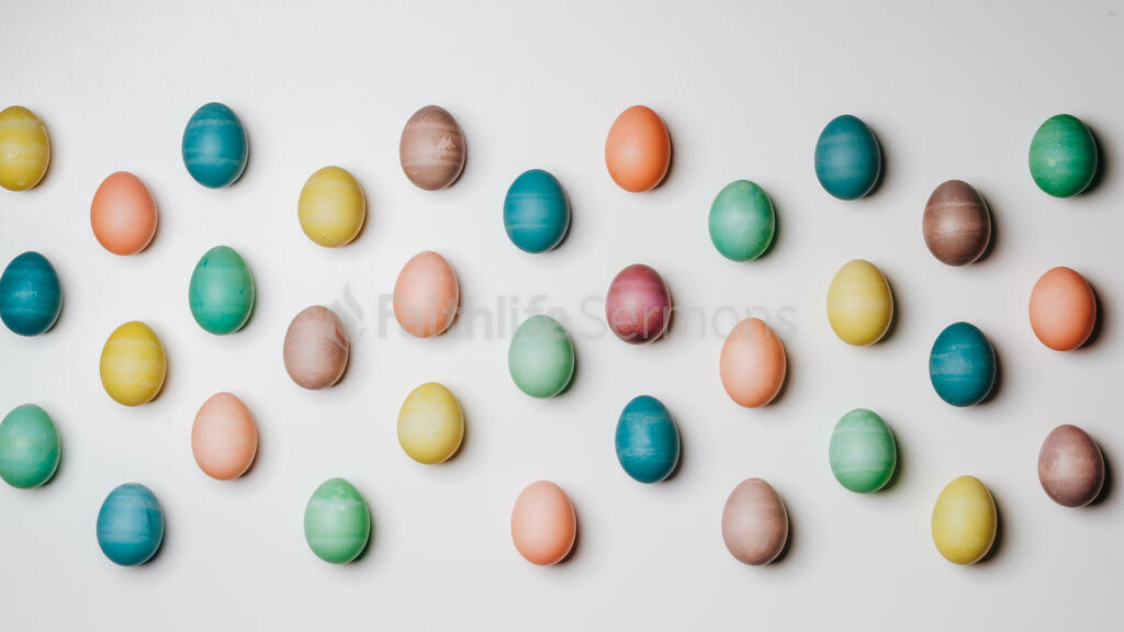 Colorful Eggs with Flowers large preview