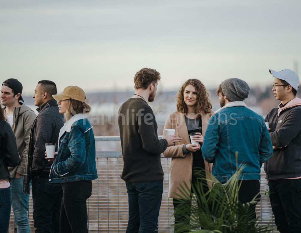 Church Lifestyle people talking outside of 16x9 86d2de9f aed7 471e 9b04 95abae153a8c preview