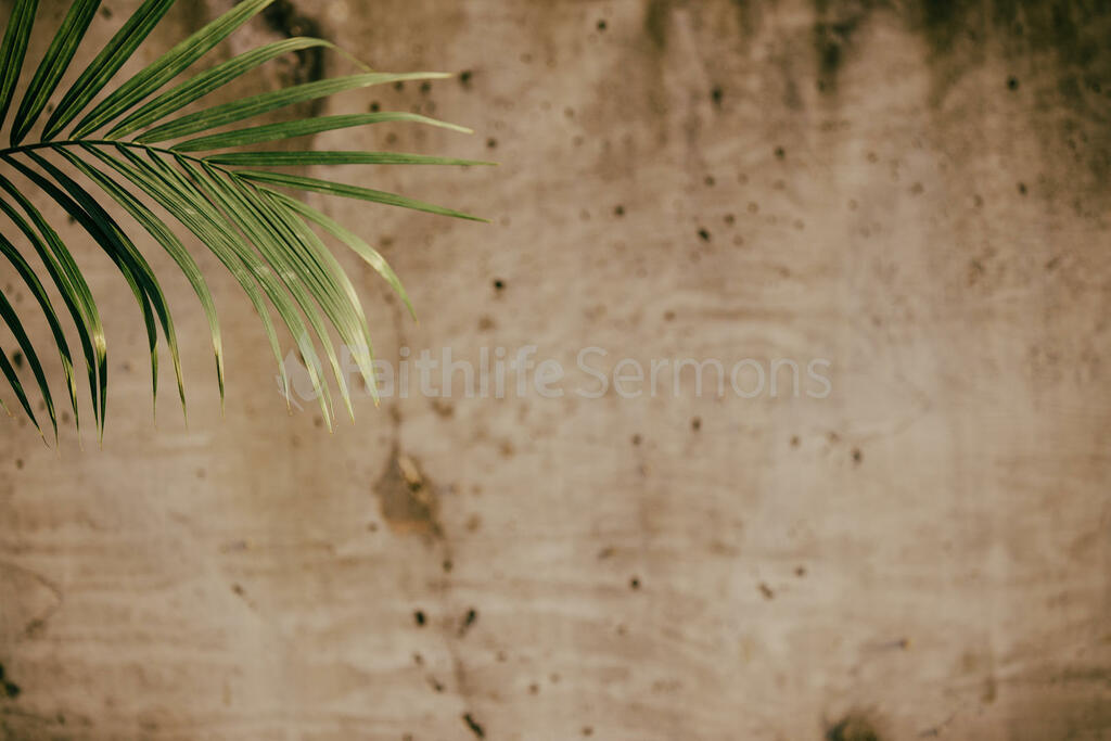 Communion and Palm Branches large preview