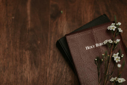 White Flowers on Bible