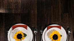 Fall Feast sunflower table setting 16x9 0e8bed44 c320 458d 9bc6 f6a0cf68411c PowerPoint image