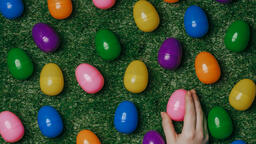 Colorful Eggs with Flowers  image 2