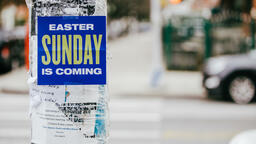 Urban Easter sunday is coming poster in the city 16x9 a20a53bf 39ee 43b4 98f2 699a0e942a89 image