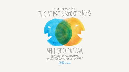 Genesis 2:23 verse of the day image