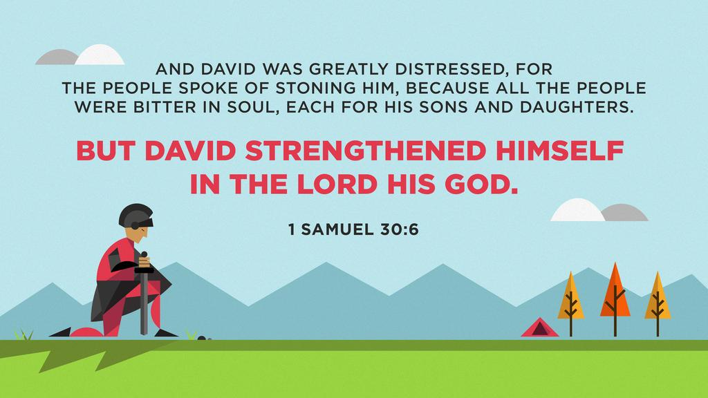 1 Samuel 30:6 large preview