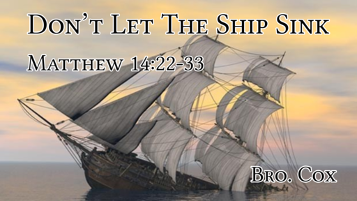 Dont Let The Ship Sink
