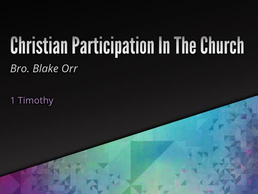 Christian Participation in Church - Sunday Service - February 27, 2019