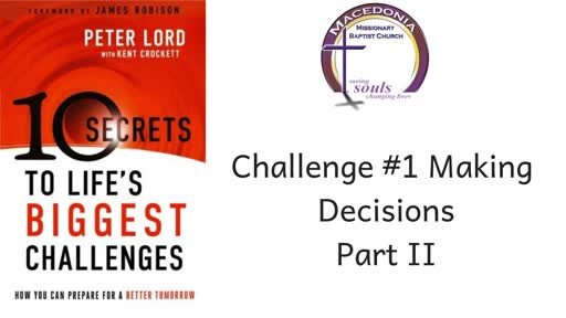 Challenge #1 Making Decisions Part II