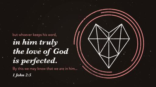 1 John 2:5 verse of the day image