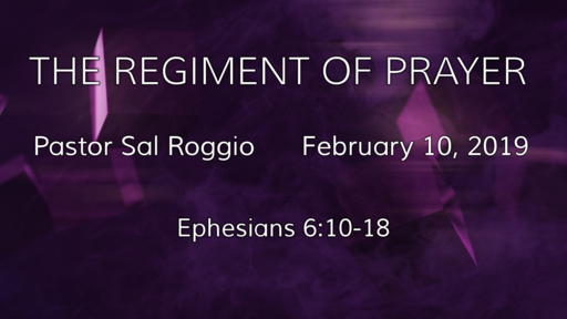 THE REGIMENT OF PRAYER