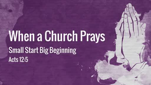 When a Church Prays