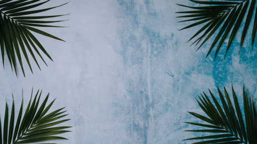 Palm Leaves Blue