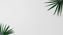 Palm Leaves White content b PowerPoint image
