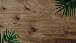 Palm Leaves Wood content a PowerPoint image