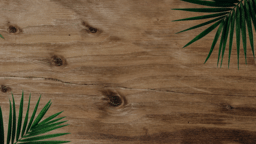 Palm Leaves Wood content b PowerPoint image
