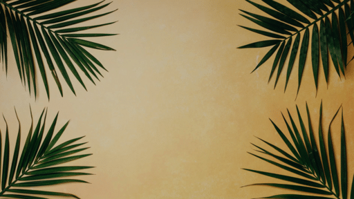 Palm Leaves Yellow