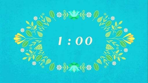 Happy Easter Flowers - Countdown 1 min