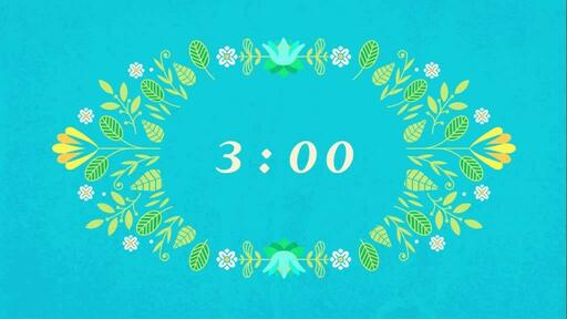 Happy Easter Flowers - Countdown 3 min