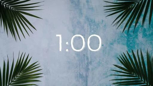 Palm Leaves Blue - Countdown 1 min