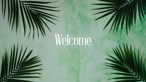Palm Leaves Green - Welcome